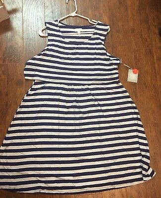 NWT A:glow Maternity Nursing/breastfeeding Dress Xxl