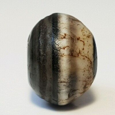 Ancient Rare Indo-Tibetan Banded King Solomon´s Agate Bead