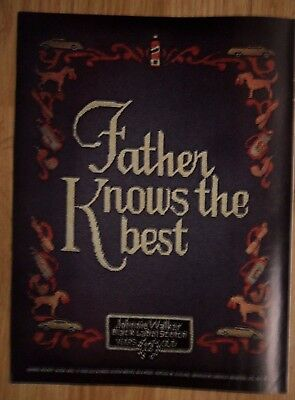 1973 Print Ad Johnnie Walker Black Label Whiskey ~ Tapestry Father Knows Best