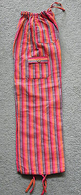 Made In Peru Cotton & Rayon Casual Colorful Baggie Pants Children Size #101129