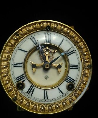 ansonia time and strike outside escapement. for porcelain clock