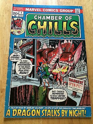 1972 Marvel Horror Comic Book Chamber Of Chills 1 Fine Harlan Ellison Adaptation