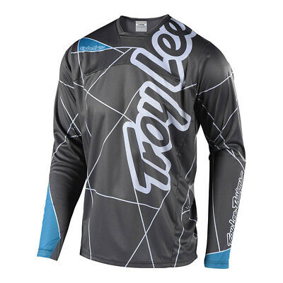 Troy Lee Designs Sprint Metric Youth Bicycle Jersey Gray/Ocean