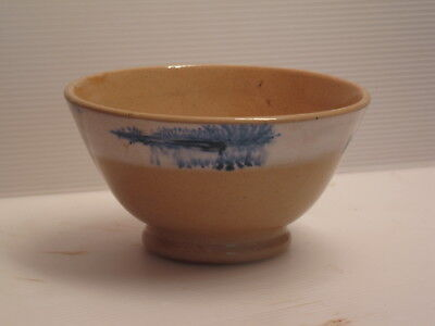 Mochaware Bowl Seaweed Pattern Yellow Ware