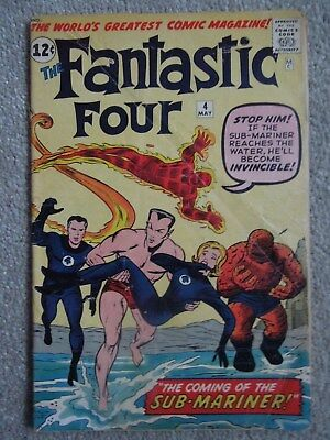 Fantastic Four #4 (Vol One 1962) - 1st appearance Silver Age Sub-Mariner