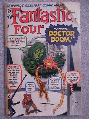 Fantastic Four #5 (Vol One 1962) - 1st appearance Doctor Doom