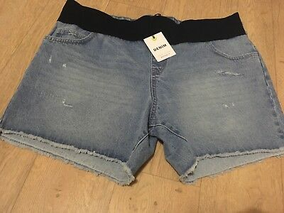 New Look Maternity Denim Shorts, Size 18 Under Bump Ripped Destroyed BNWT NEW