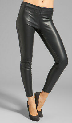6f18a79e25f1ad NWT BLANK NYC Women Black Pull On Faux Vegan Leather Ankle Legging Pant 28  3410
