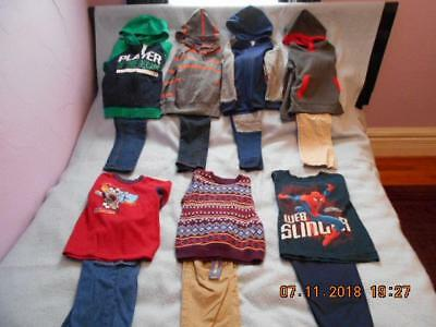 14 Pc Mixed Lot Boys Size 5-5T Used Winter Clothing (4 are nwt)