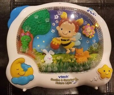 Vtech Soothe & Surprise Nature Light Crib Baby Toy Music Light Projector