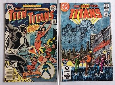 Lot of 2 TEEN TITANS 44 F NEW Teen Titan 26 VF First Appearance GUARDIAN + TERRA