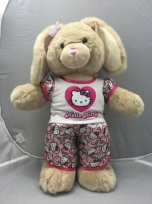 Build A Bear Beige Bunny Rabbit-Retired With Tush Tag!Hello Kitty Pyjamas! EUC