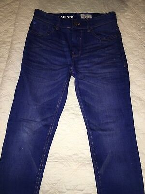 Boys NEXT blue skinny jeans Age 11 Excellent condition w free NEXT Tee
