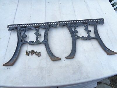 Vintage Cast Iron Outdoor Patio Small Table Ends with Screws