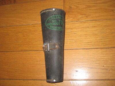 Vintage Greenlee 735 Round Knock Out Punch Set in Leather Pouch