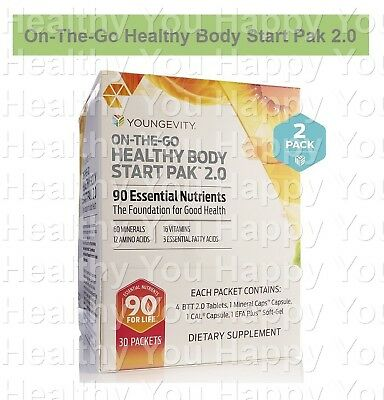 On The Go Healthy Body Start Pak 2.0 (60 Packets) Youngevity