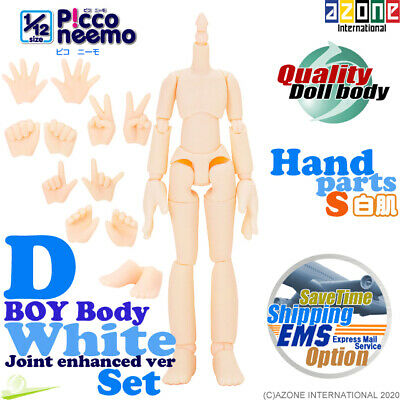 AZONE Pure Neemo FLECTION M Boy Body & Hand parts A + set White Blythe Doll NEW