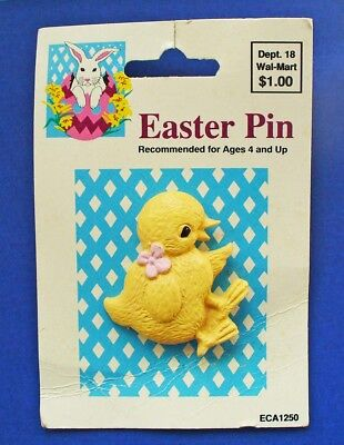 BUY1&GET1@50%~Walmart PIN Easter MOC* DUCK w Pink Dogwood Flower Vtg Holiday