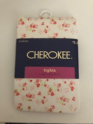 Cherokee Toddler Flower Tights 5T