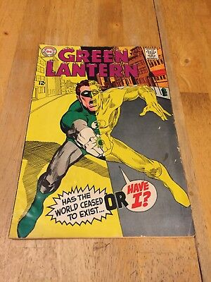 Green Lantern #63 DC Comics September 1968 Low Grade Water Damaged Readable