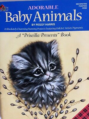 Adorable BABY ANIMALS Peggy Harris  FOLK ART Gorgeous Book!