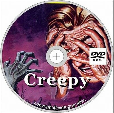 Creepy comic 1-146 on DVD Warren Horror