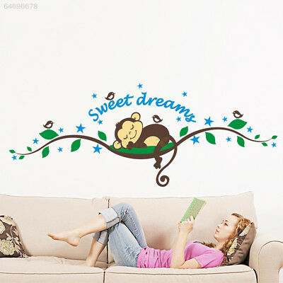 9BD7 Kids Monkey Sweet Dream Removable Wall Sticker Pasters Decal Baby Decor