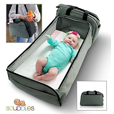 ❤ Baby Scuddles- 3-1 Portable Bassinet For Foldable Bed Travel Bassinet Function