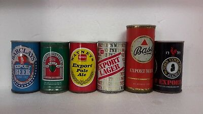 Vintage Straight Steel Beer Cans from UK