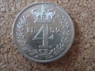 1832 Maundy 4p Fourpence four pence, Scarcity - Nice condition as photographed
