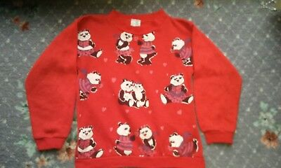 Vintage 80s girls jumper (Pandas)
