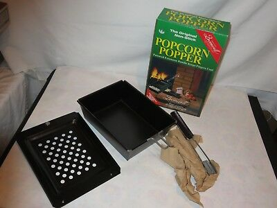 Popcorn Popper Bromwell NEW Vintage Never Used Camping R.V. Fireplace  (m434)