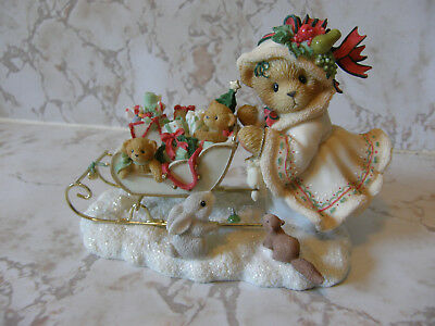 Cherished Teddies ASTRID 864218 GIRL SHOPPING WITH SLED   NEW
