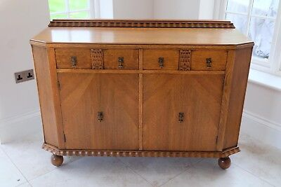 Turn of the Century (1923) Magnificent Oak Sideboard with 2 SECRET COMPARTMENTS