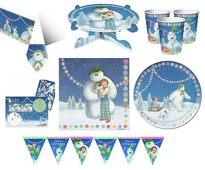 SNOWMAN & SNOWDOG Christmas Xmas Party Range - Tableware Balloons & Decorations