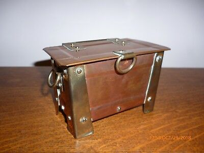 Antique Arts & Crafts Copper/brass Casket/box