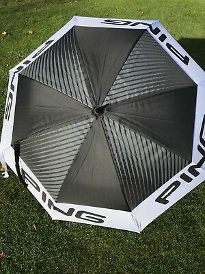 "Ping Golf Tour Golf Double Canopy Umbrella 68""  Black / White / Grey"