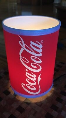 Coca Cola Small Table Lamp-120 Volt-Uses Nightlight Bulb (Included)-Near Mint !!