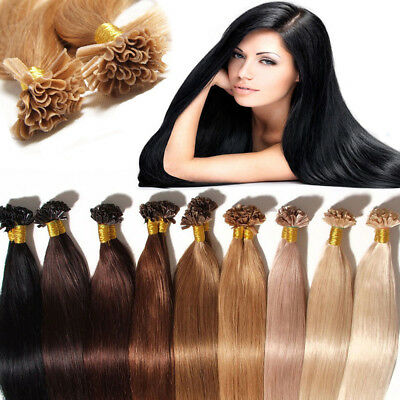 50, 100 Extensions Pose A Chaud Cheveux Extensions 100% Naturels Fr Stock Kndi3
