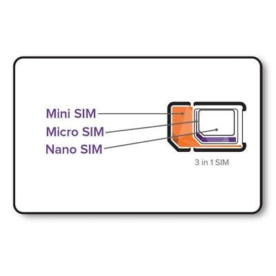 Sim card for Israel, free income calls, top-up able, triple cut