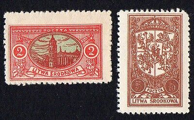 Central Lithuania. 1921 New Daily Stamps. MLH