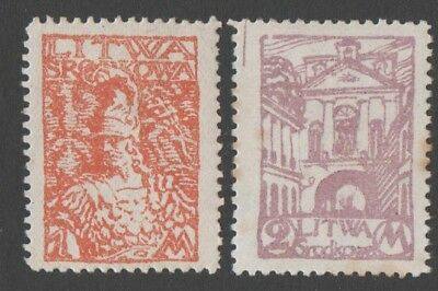 Central Lithuania. 1920 New Daily Stamps. MNH