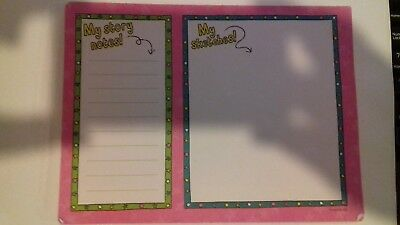 My sketches and story notes pad -  originally came in Jacqueline Wilson magazine