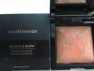BareMINERALS Invisible Glow Powder Highlighter Full Size DARK TO DEEP 0.24 oz.