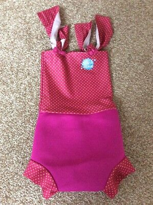 Girls Splash About Swimming costume with Happy Nappy Size Medium (3-8 months)