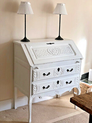 Vintage French Painted Bureau/Desk - Shabby Chic!