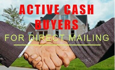 I will give active real estate cash buyers with complete data list of real estat