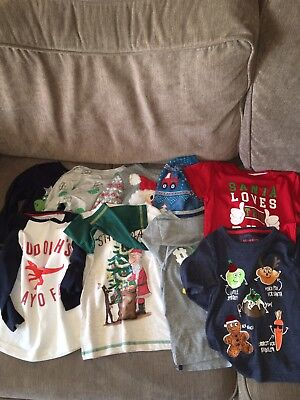 Boys Christmas Xmas Clothes Bundle - 18-24 Months - Jumpers T-shirts - Next