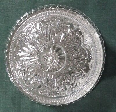 Vintage AVON Clear Glass Round Candy Dish with Lid & Plate