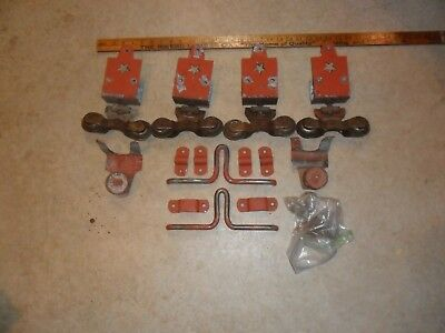 Vintage Starline Cannonball Barn Door Rollers 2 Sets Plus Hardware & Extras